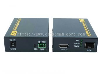 4K HDMI to Fiber Optic Extender with RS-232 port Industrial Pin Type Terminal