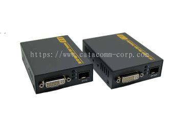 4K DVI & 3D Signal Over Fiber Extender / Converter Set with EDID support