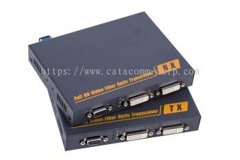 DVI & RS-232 over fiber optic extender