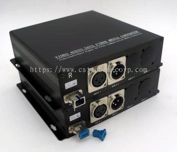 1 XLR Audio Channel BiDirectional over Fiber Optic Converter