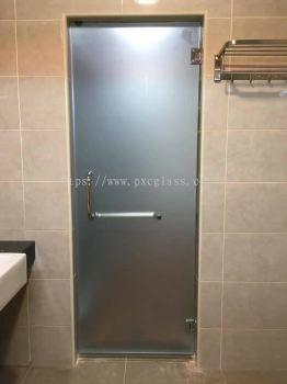 Toilet Glass Swing Door