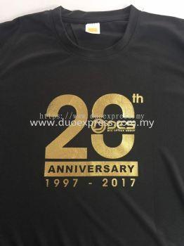 Event T Shirt Printing Murah -Silk Screen Gold Foil