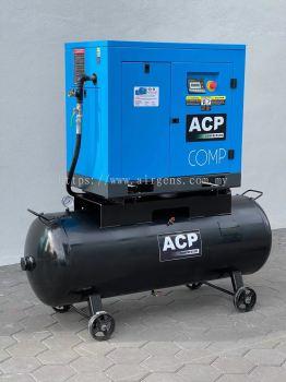 (2 in 1) 15.0HP ��ACP�� DIRECT DRIVE ROTARY SCREW AIR COMPRESSOR C/w 300L HORIZONTAL TANK, MODEL : RS 15A -P/300