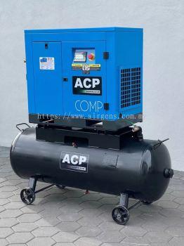 (2 in 1) 20HP ��ACP�� DIRECT DRIVE ROTARY SCREW AIR COMPRESSOR C/W 300 L HORIZONTAL TANK, MODEL : RS 20A - P/300