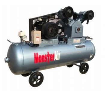 10 HP OIL FREE MONSTER AIR RECIPROCATING PISTON AIR COMPRESSOR, MODEL : VW100-300H