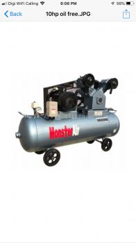 15HP ��OIL FREE MONSTER AIR�� RECIPROCATING PISTON AIR COMPRESSOR, MODEL : VW150-400H
