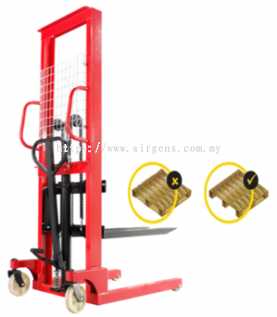 1.5 tons GEOLIFT Economic Manual Hydraulic Stacker - MSE1516