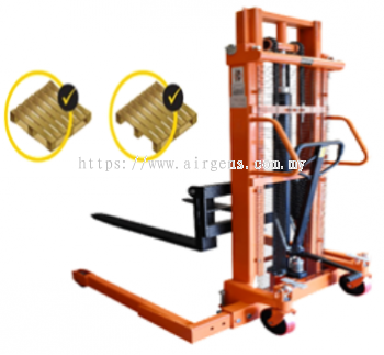 1.5 tons GEOLIFT High Performance Manual Hydraulic Straddle Legs Stacker - MSW1516