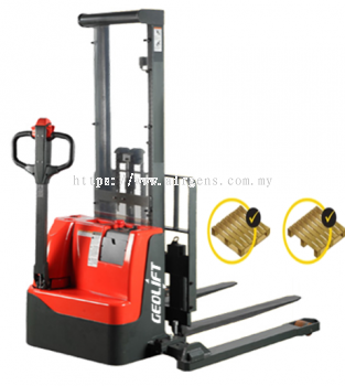 Straddle Legs Walkie Electric Stacker