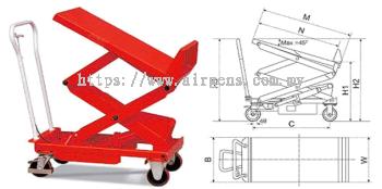 GEOLIFT Manual Lift & Tilt Table - LT80-T (Germany Hydraulic Pump System)