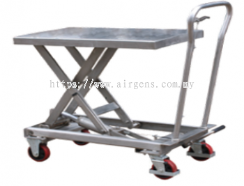 GEOLIFT Stainless Steel Manual Lift Table - LT10SS (Germany Hydraulic Pump System)