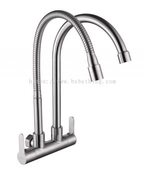 Double S/FLEXI Wall Sink Tap S/S 1927 DUV 1927 SUS 304