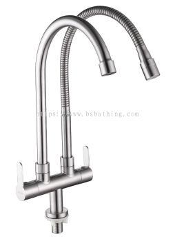 Double S/FLEXI Pillar Sink Tap S/S 1827 DUV 1827 SUS 304