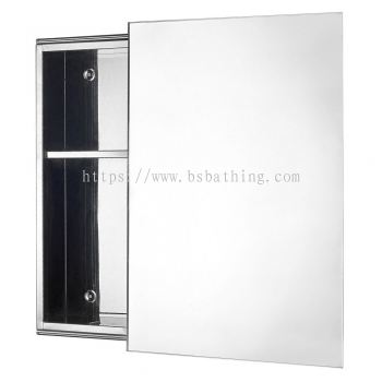 Latina LTN 3754 Stainless Steel Mirror Cabinet with Sliding Door