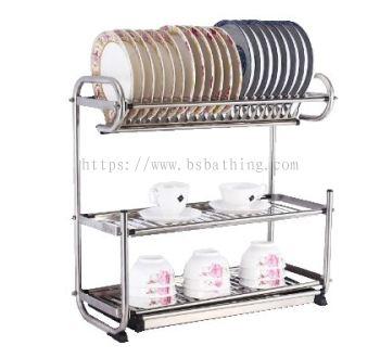 3 layer dish rack c/w fork/spoon+knife holder
