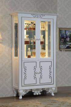 KING EDWARD - 2 DOOR DISPLAY CABINET