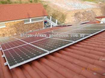 5 kWp, Tile Roof Retrofit (Penang)