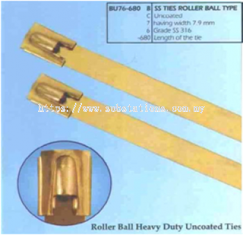 Stainless Steel Cable Ties Roller Ball Type - Uncoated