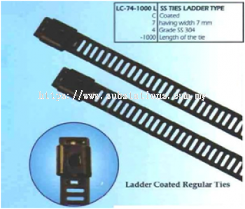 Stainless Steel Cable Ties Ladder Type -Coated