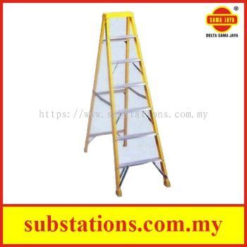 Fibreglass Step Ladder Industrial Duty (Single Sided)