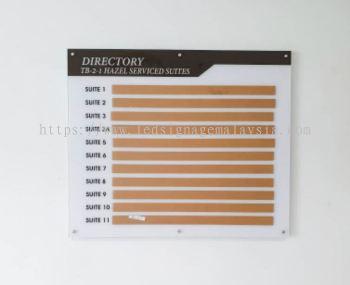 Acrylic Signage - Directory Board