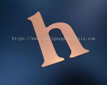 Laser Cutting Service on Stainless Steel Lettering