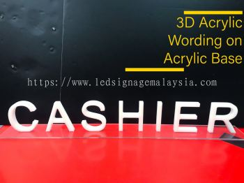 3D Acrylic Wording Table Signage