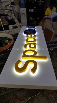 Signage with LED Back Lit