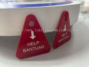 Customized Machine Acrylic Tag Laser Engraving