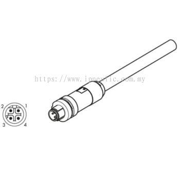 EB80 ELEC. CONN.-- STRAIGHT CONN. M12 BUS, D-CODED