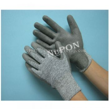 Grey Cut Resistant Grey Palm Coated Gloves