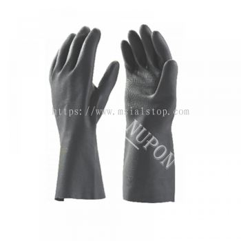 Heavy Duty Black Chemical Resistance Gloves - BK 39-18