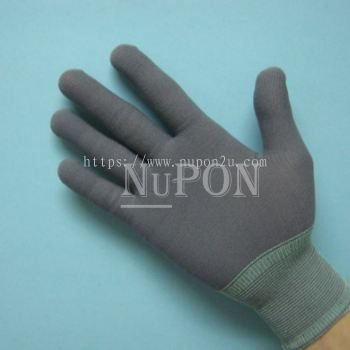 Grey Nylon Knitted Gloves- Without PU Coated