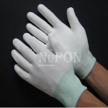 White Cut Resistant White Palm Coated Gloves