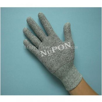 Grey Cut Resistant Knitted Gloves (without PU)