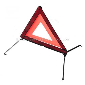 Emergency Traffic Car Warning Triangle For Roadway Safety Traffic Signs With Led Flashing Light
