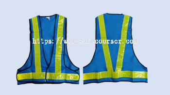 V-Type Safety Vest With Button And Pocket