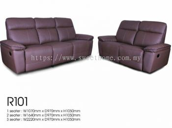 July Limited Special sale Half Leather Sofa 5 Recliner