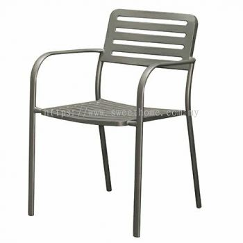 Outdoor Steel Chair - Cool Grey