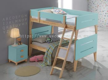 TIFFANY SINGLE WOODEN DOUBLE DECKER - TIFFANY BLUE + NATURAL