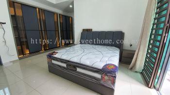 Bedframe sets bilik katil with Mattress Almari deliver in Kota Permai