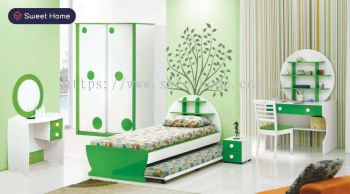 Kid's Bedroom Set Children's Bedroom Set Colorful Bedroom Set Almari Kanak-Kanak