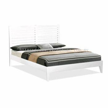 Designer Full Solid Queen Wooden Bed Frames 5'- White