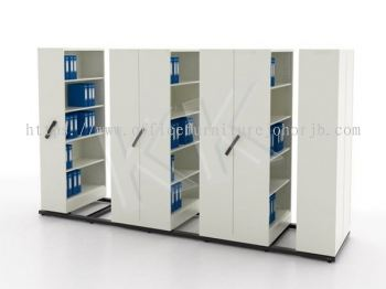 Steel 6 Bay Mobile Filing Compactor