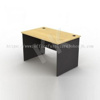 Maple & Dark Grey Straight Office Table 1200W