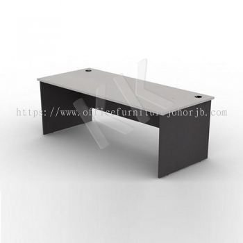 Light Grey & Dark Grey Straight Office Table 1800W