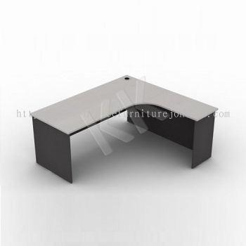 Light Grey & Dark Grey L-Shaped Office Table 1500W