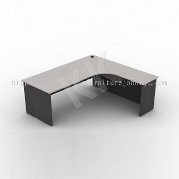 Light Grey & Dark Grey L-Shaped Office Table 1800W