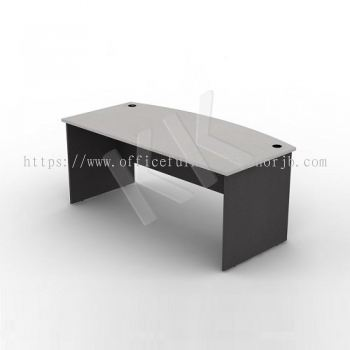 Light Grey & Dark Grey Curved Office Table 1800W