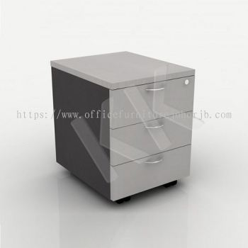Light Grey & Dark Grey Office 3 Drawer Mobile Pedestal